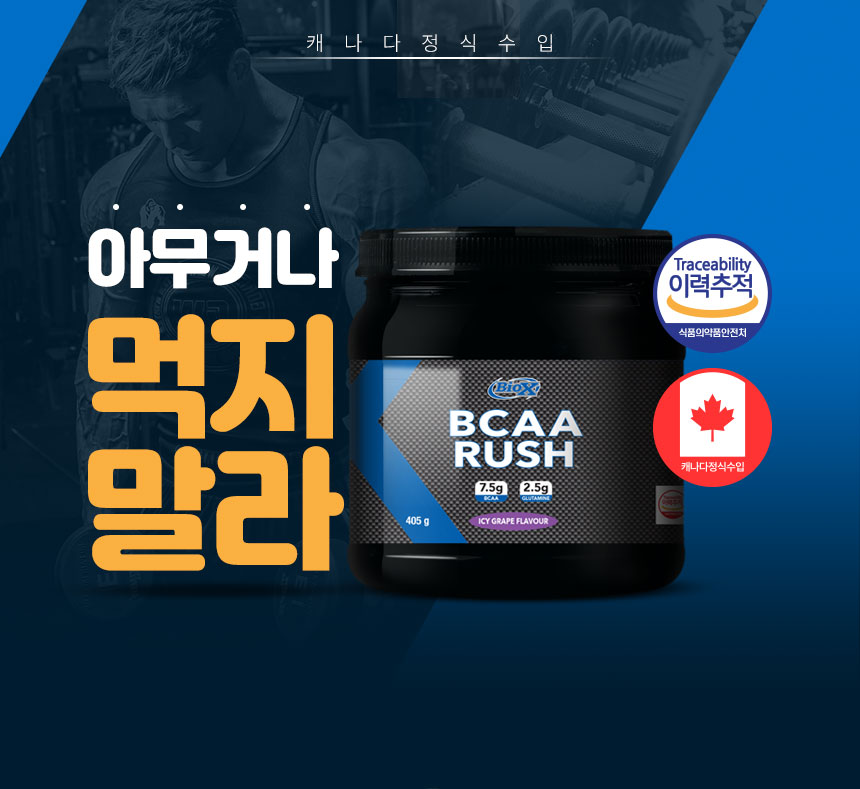BCAA 러쉬 보충제